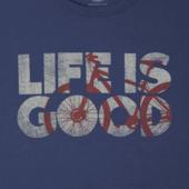 Men's Bike Life is Good Smooth Tee