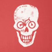 Men's Bike Skull Long Sleeve Crusher Tee