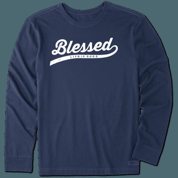 Men's Blessed Long Sleeve Crusher Tee