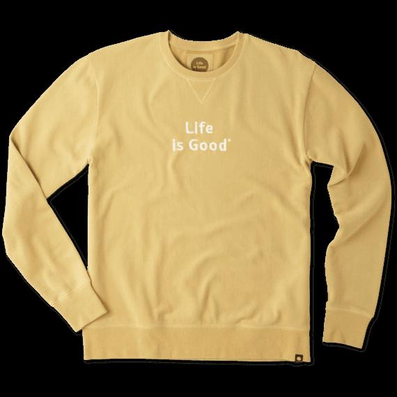 Men's Life is Good Go-To Crew Sweatshirt