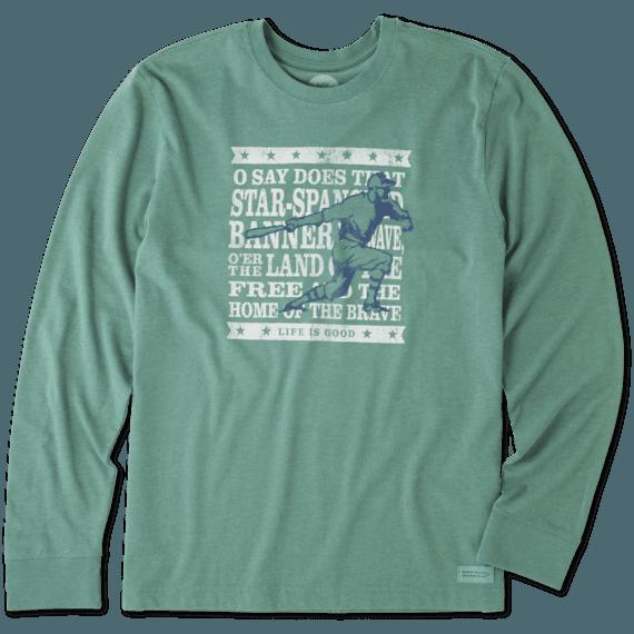 Men's Brave Baseball Long Sleeve Crusher Tee