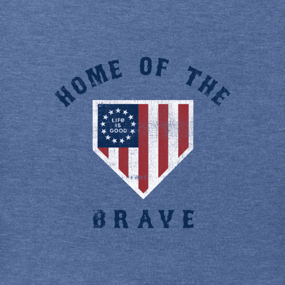Men's Brave Home Plate Crusher Tee
