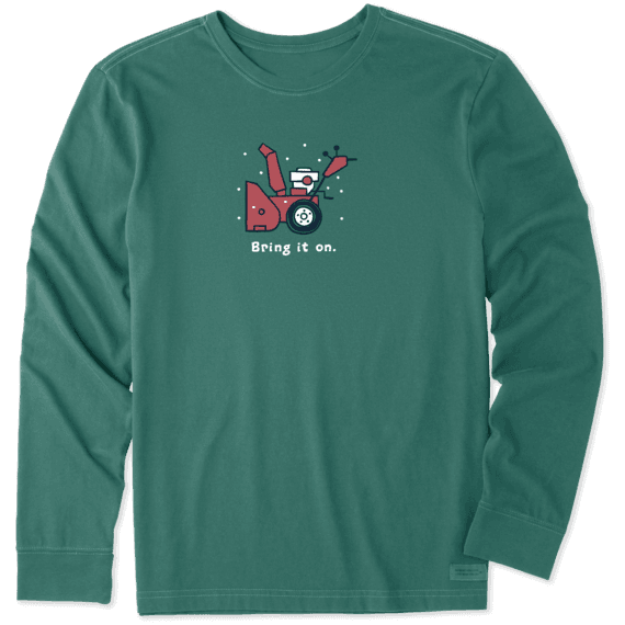 Men's Bring it on Snow Blower Long Sleeve Vintage Crusher Tee