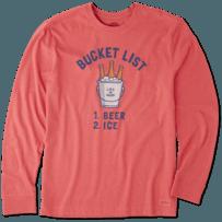 Men's Bucket List Beer Long Sleeve Crusher Tee