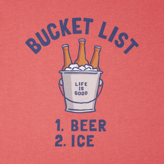 Men's Bucket List Beer Long Sleeve Crusher Tee