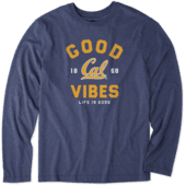 Men's California Golden Bears Good Vibes Arc Long Sleeve Cool Tee