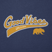 Men's California Golden Bears Good Vibes Tailwhip Cool Tee