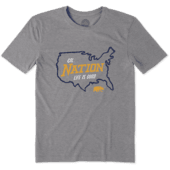 Men's California Golden Bears Nation Outline Cool Tee