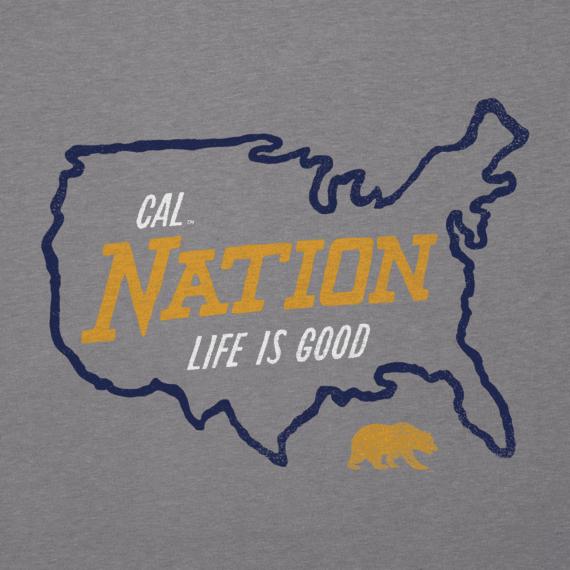 Men's California Golden Bears Nation Outline Cool Tee