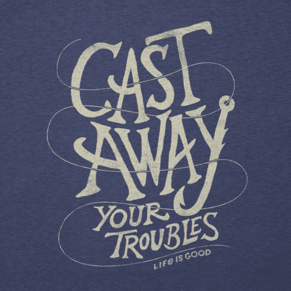 Men's Cast Away Your Troubles Cool Tee