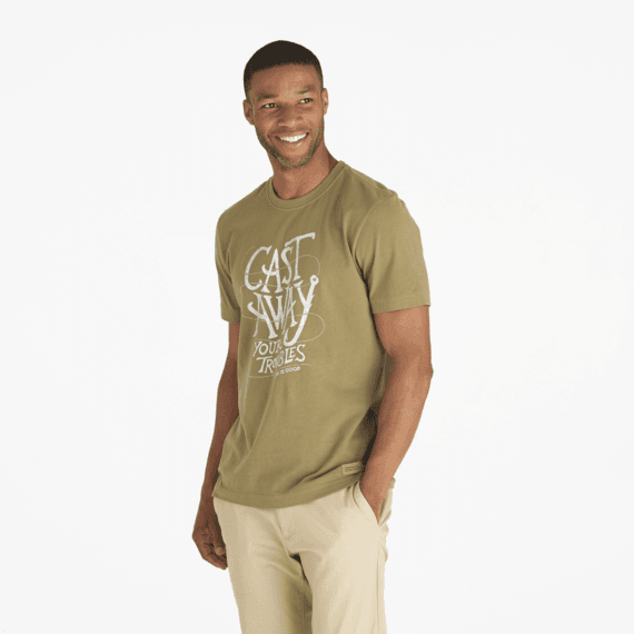 Men's Cast Away Your Troubles Crusher Tee