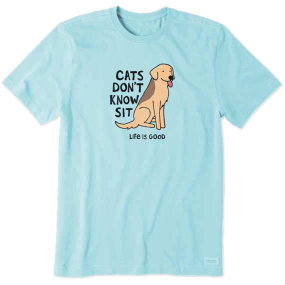 Men's Cats Don't Know Sit Crusher Tee