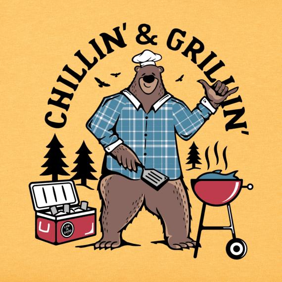 Men's Chillin' & Grillin' Bear Crusher Tee