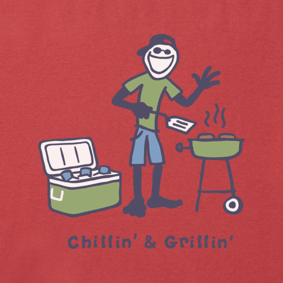 Men's Chillin' & Grillin' Vintage Crusher Tee
