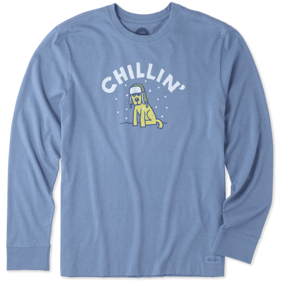 Men's Chillin' Rocket Long Sleeve Crusher Tee