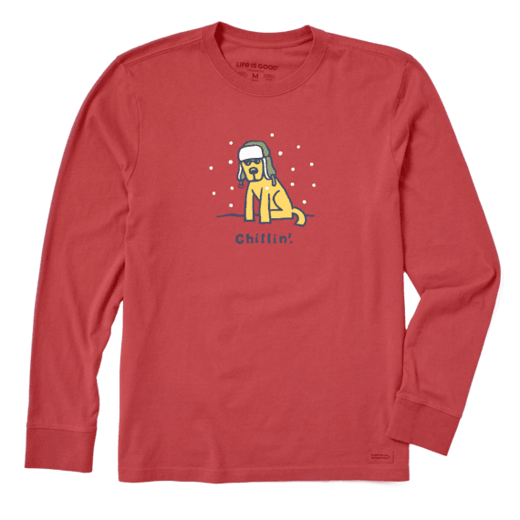 Men's Chillin' Rocket Long Sleeve Vintage Crusher Tee