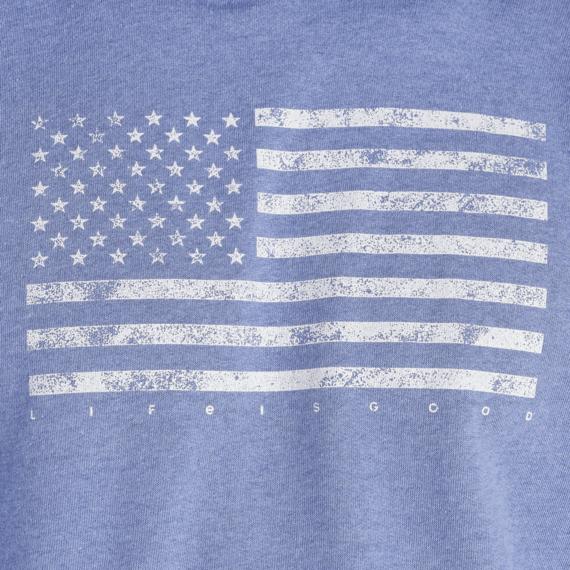 Men's Classic Flag USA Simply True Hoodie
