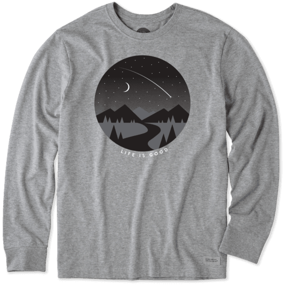 Men's Clear Night Long Sleeve Crusher Tee