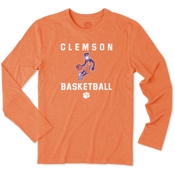 Men's Clemson Tigers Athlete Jake Long Sleeve Cool Tee