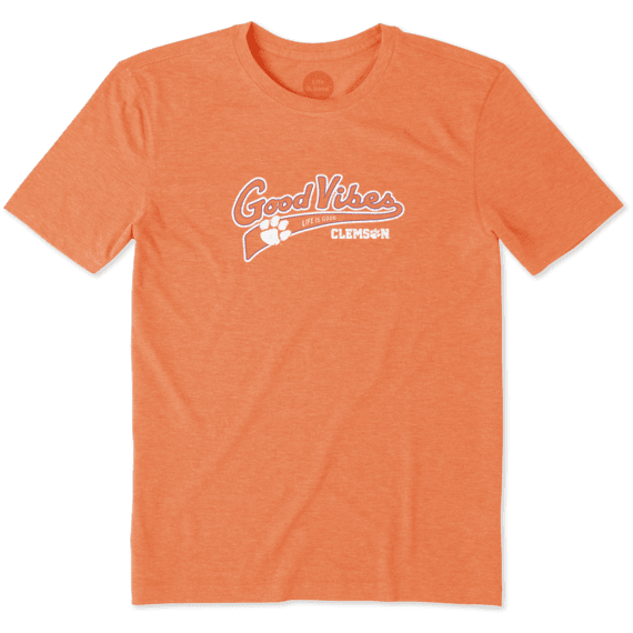 Men's Clemson Tigers Good Vibes Tailwhip Cool Tee