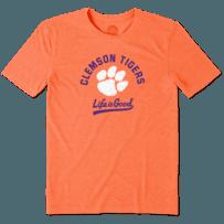Men's Clemson Tigers Gradient Tailwhip Cool Tee