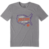 Men's Clemson Tigers Nation Outline Cool Tee
