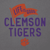 Men's Clemson Tigers Pennant Long Sleeve Cool Tee