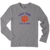 Men's Clemson Tigers Stay True Long Sleeve Cool Tee