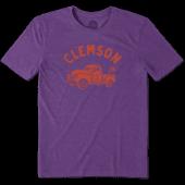 Men's Clemson Vintage Truck Cool Tee