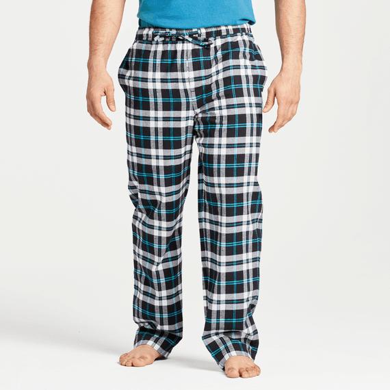 Men's Cloud White Plaid Classic Sleep Pant