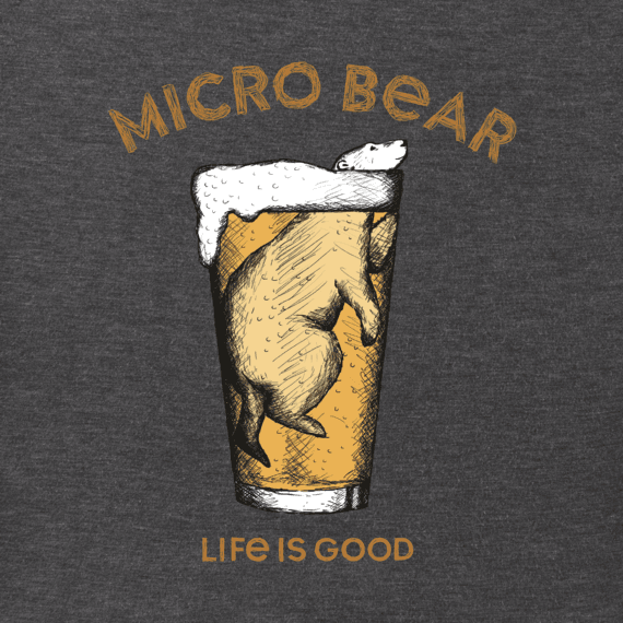 Men's Cold Micro Bear Long Sleeve Crusher Tee