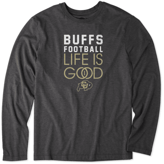 Men's Colorado Buffaloes Infinity Football Long Sleeve Cool Tee