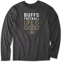 Men's Colorado Buffaloes Infinity Football Long Sleeve Cool Tee