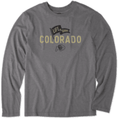 Men's Colorado Buffaloes Pennant Long Sleeve Cool Tee