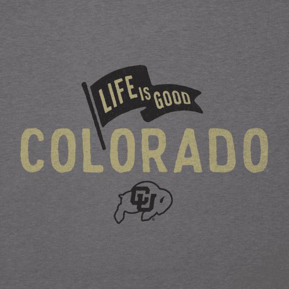 Men's Colorado Buffaloes Pennant Long Sleeve Cool Tee