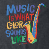 Men's Colorful Saxophone Crusher Tee