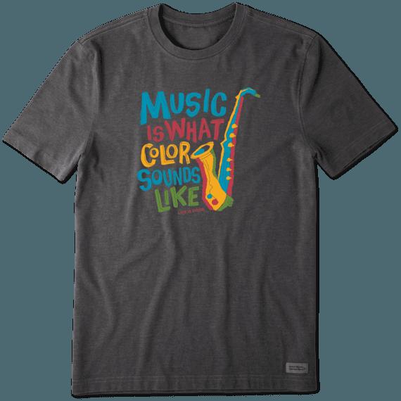 Men's Colorful Saxophone Crusher Tee