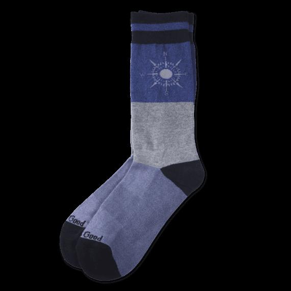 Men's Compass Crew Socks