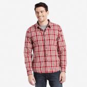 Men's Cranberry Red Plaid Down Plaid Shirt