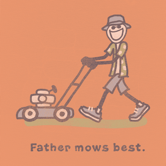 ea9a17be Men's Father Mows Best Short Sleeve Crusher Tee|Dad Tee Shirts| Life ...