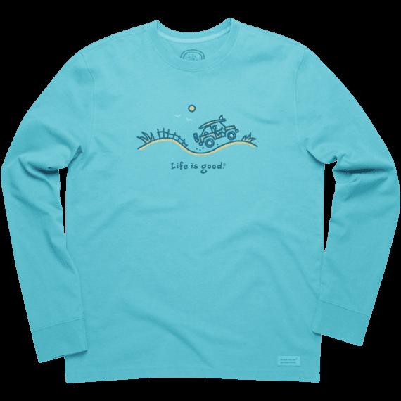 a9cb0a7167e4 Men's Beach Silo Ride Short Sleeve Crusher Vee   Beach Tee Shirts ...