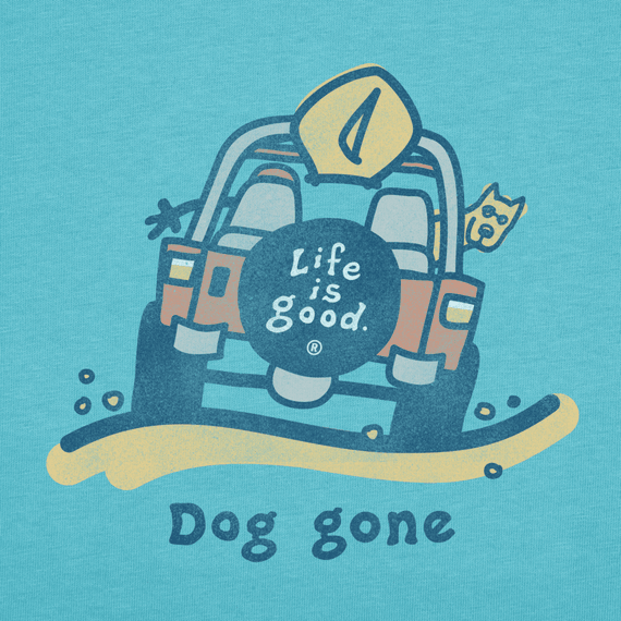 Men's Dog Gone Beach Long Sleeve Crusher Tee