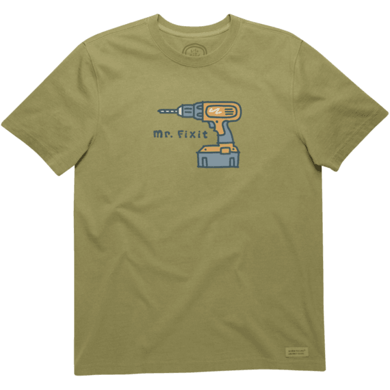 Life is Good Mens Only A Drill Crusher Tee The Life is good Company