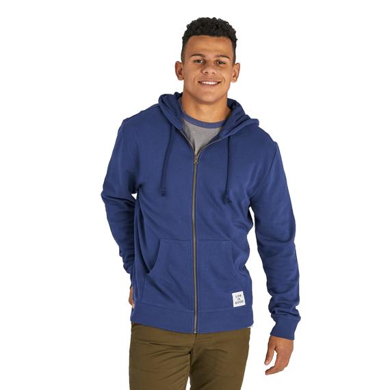 Men's Darkest Blue Hoodie Simply True Zip Hoodie