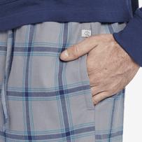 Men's Darkest Blue Plaid Classic Sleep Pant