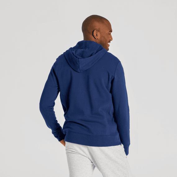 Men's Darkest Blue Simply True Zip Fleece Hoodie