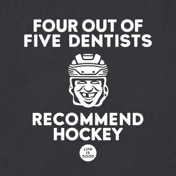 Men's Dentists & Hockey Long Sleeve Crusher Tee