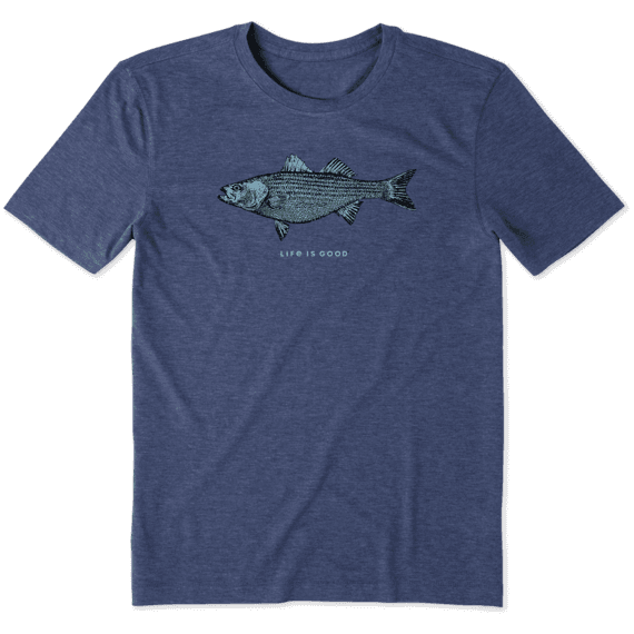 Men's Detailed Striped Bass Cool Tee