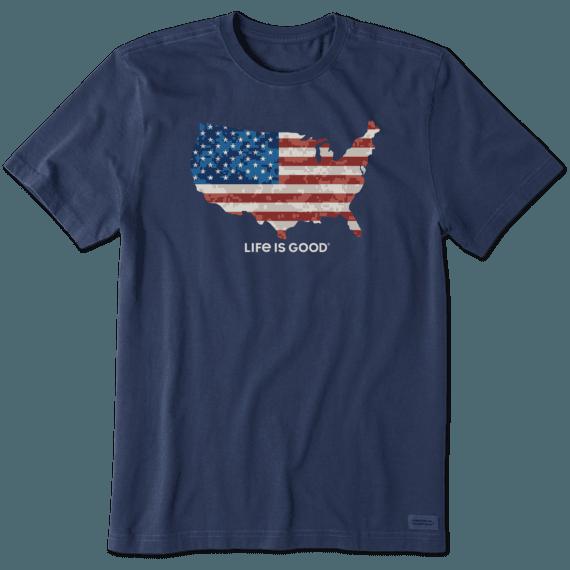Men's Digital Camo Flag Crusher Tee