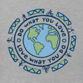 Men's Do What You Love Earth Vintage Crusher Tee